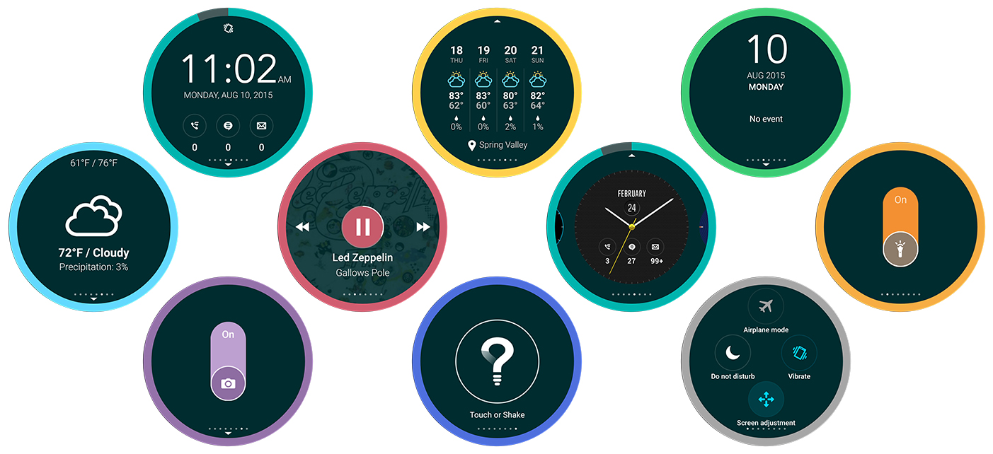 ASUS Zenfone 2- Smart screen examples