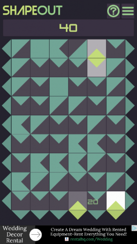 Shapeout endless mode tappday android game