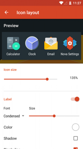 Nova Launcher lets you customize everything