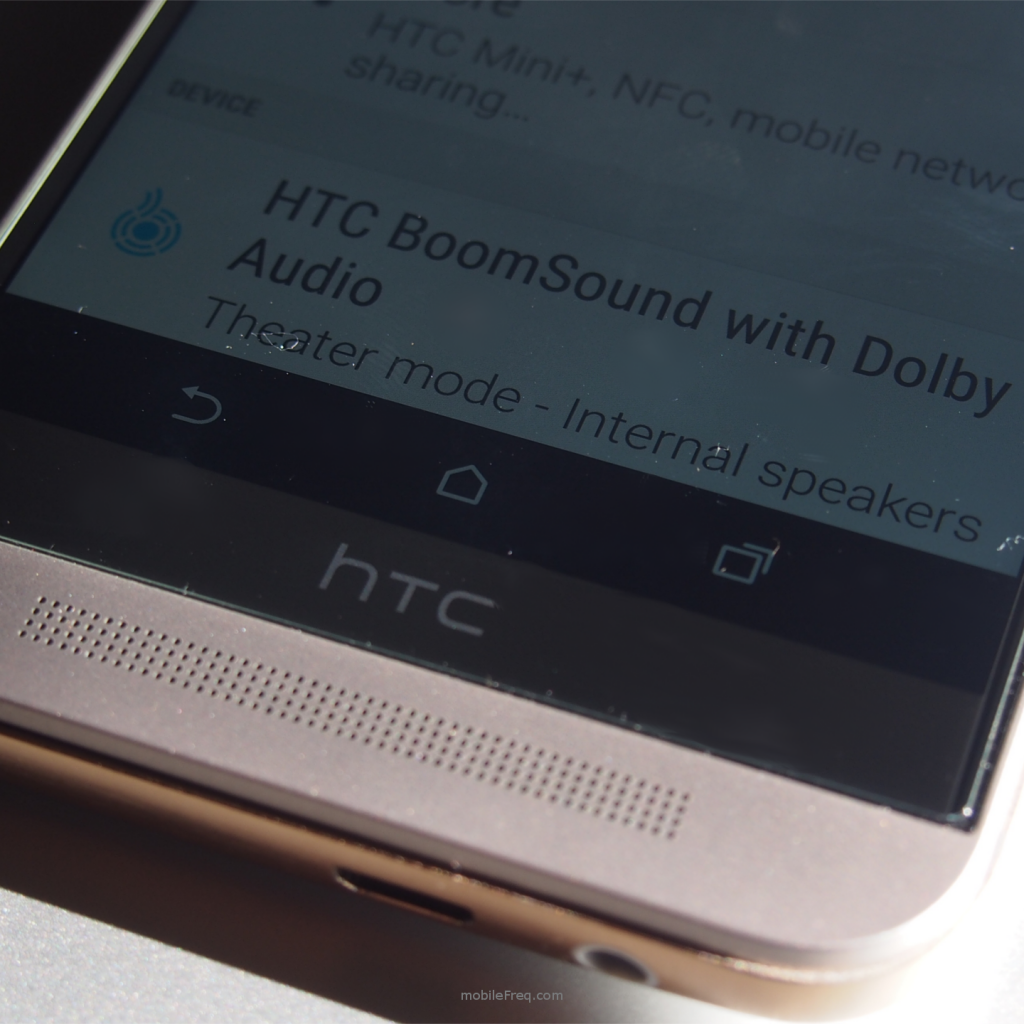 HTC One M9 boomsound stereo speakers