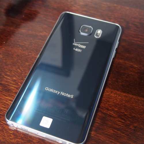 Galaxy Note 5 back